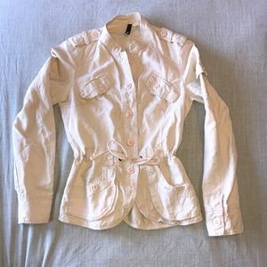 Ladies light pink cargo style jacket from H&M